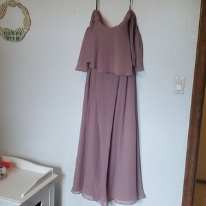 Off The Shoulder Bridesmaid's Dress In Dusty Mauve
